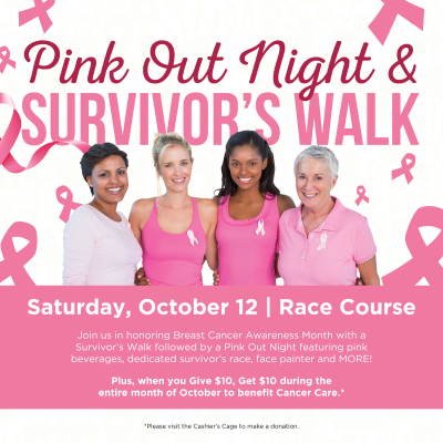 Pink Out Night set for Saturday, Oct. 12 at Indiana Grand Racing & Casino