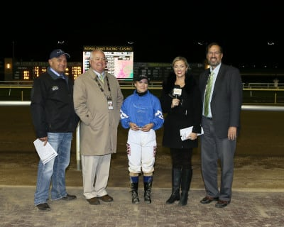 Sterritt, Ramos Tie for Leading Apprentice  at Indiana Grand Racing & Casino